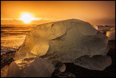 Sonnenaufgang Jökulsarlon