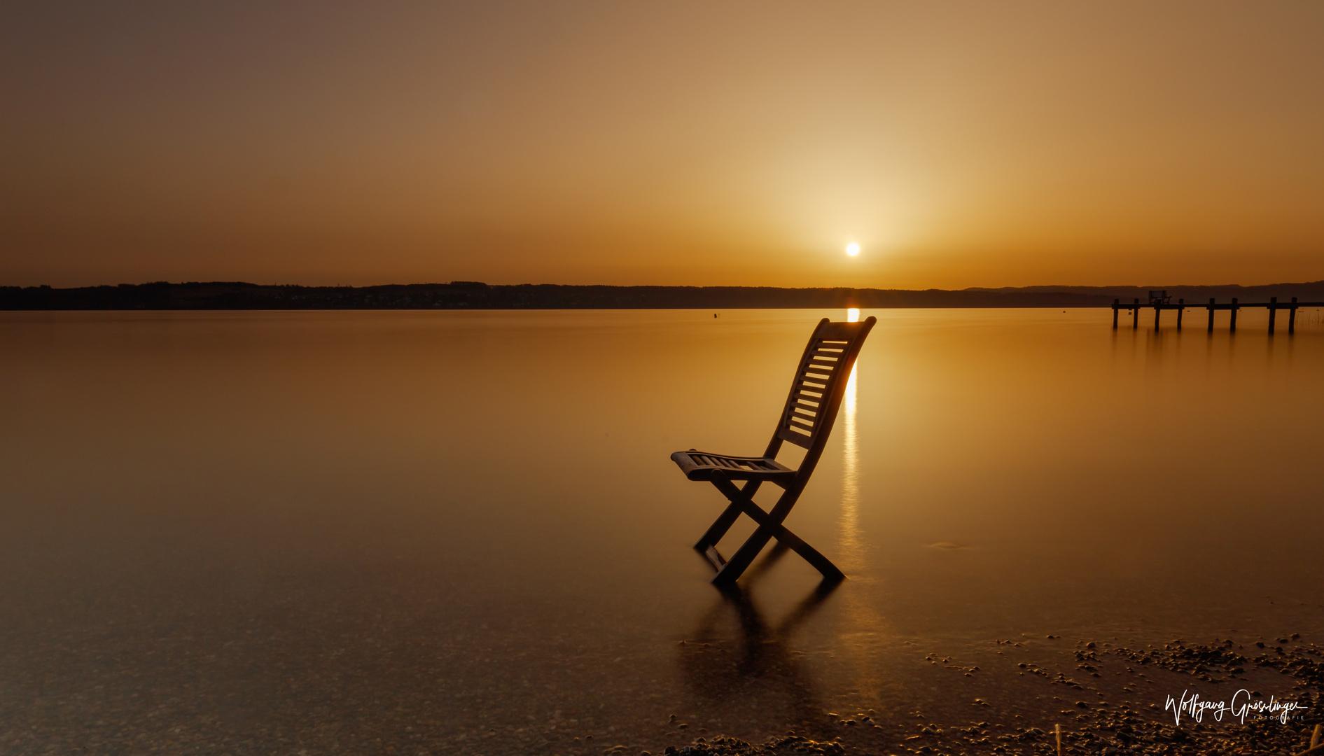 Sonnenaufgang mit den Saharasand Farben