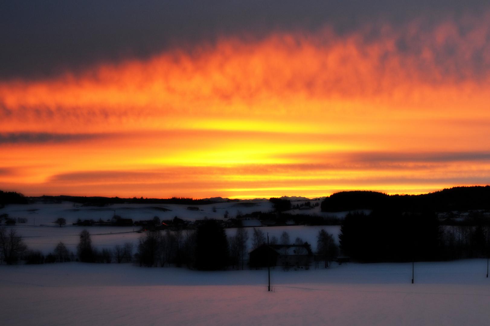 Sonnenaufgang, Notzen, Oberallgäu