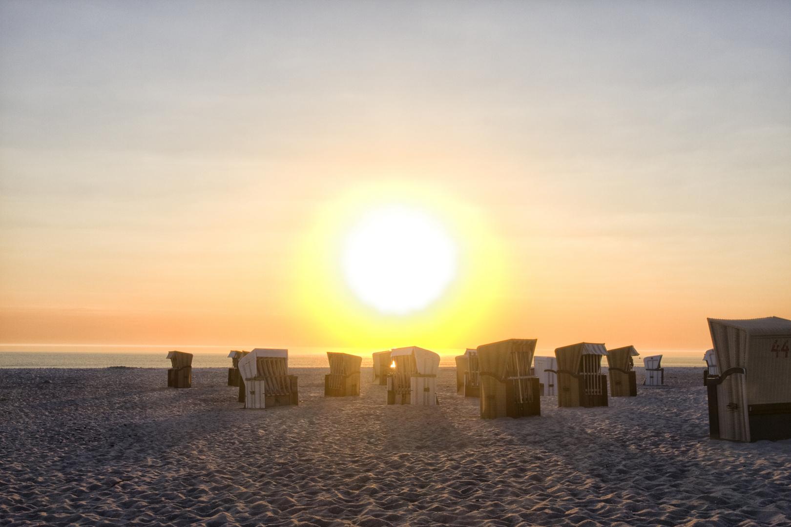Sonnenaufgang Strand Prerow 2014