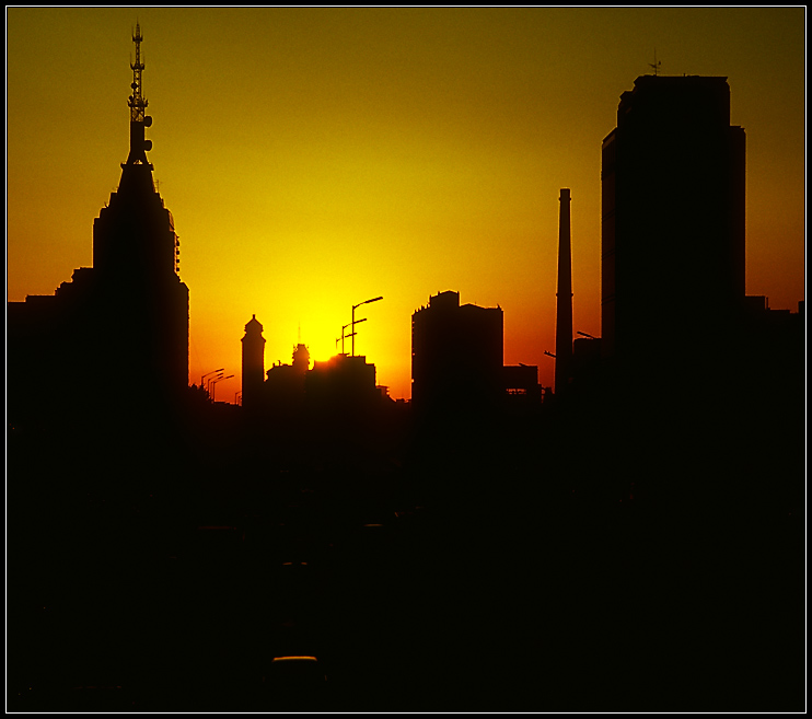 Sonnenaufgang über Beijing