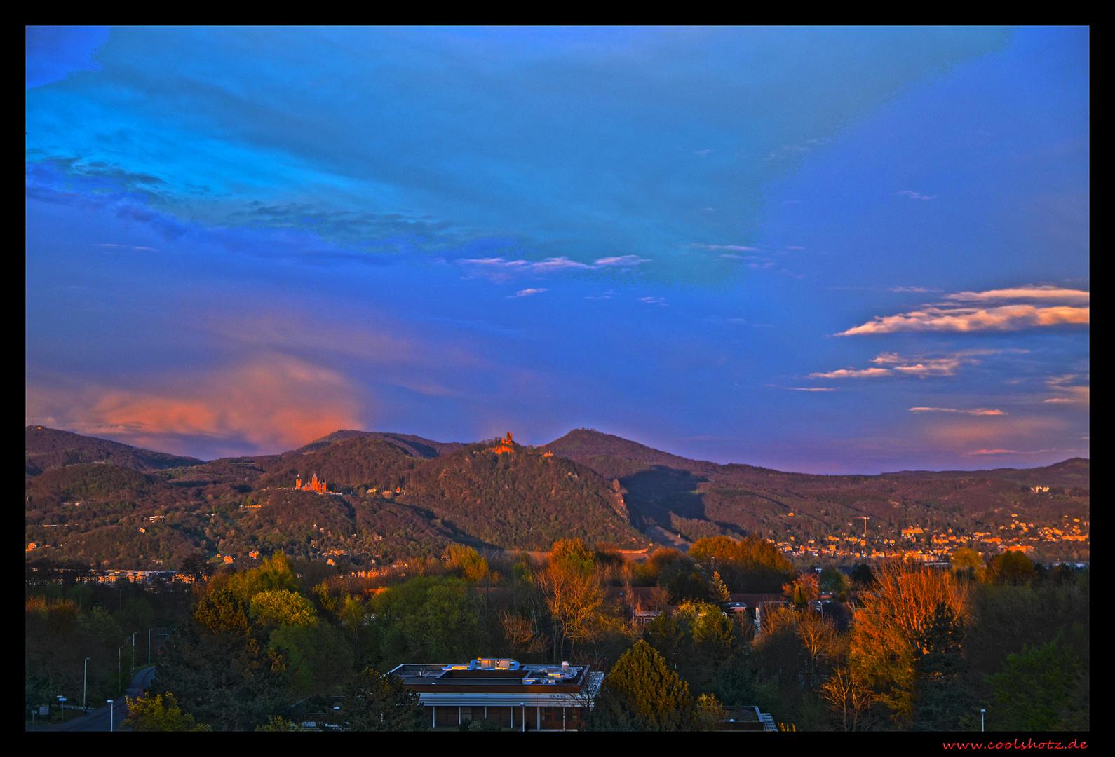 Sonnenaufgang über dem Drachenfels