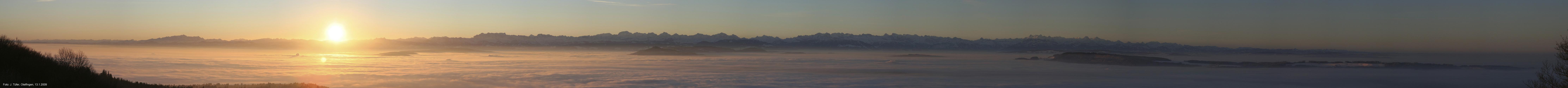 Sonnenaufgang über dem Nebelmeer