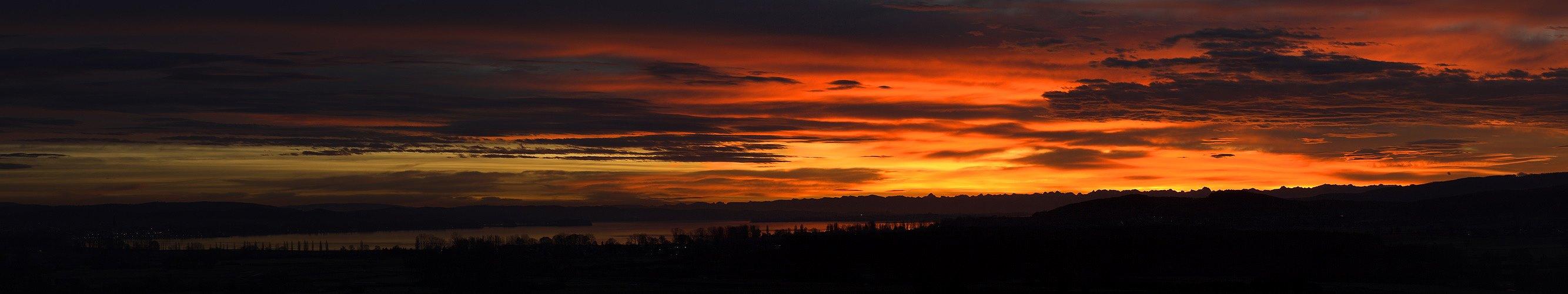 Sonnenaufgang über dem Untersee