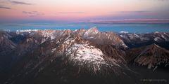 Sonnenaufgang über den Alpen - 2