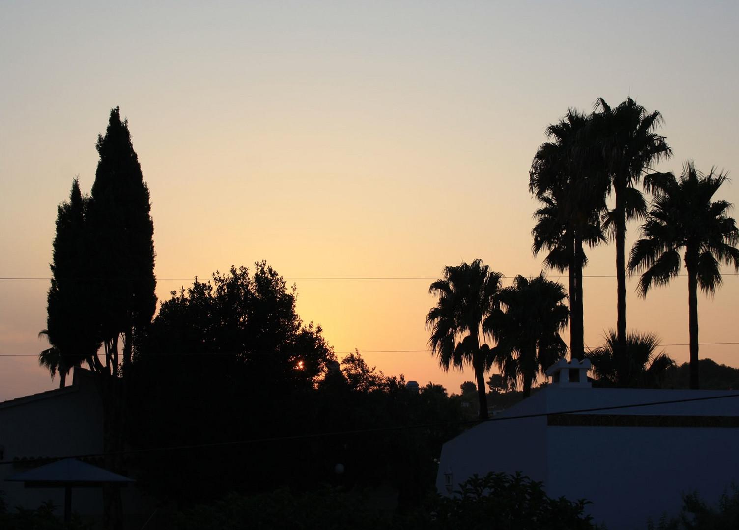 Sonnenaufgang über Denia