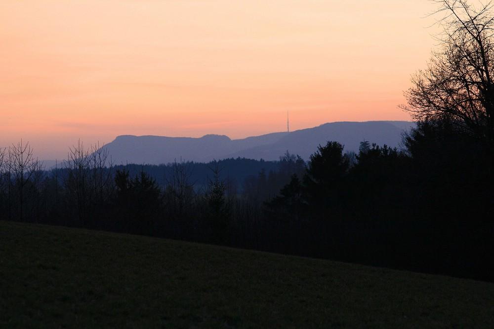 Sonnenaufgang über der Ostalb