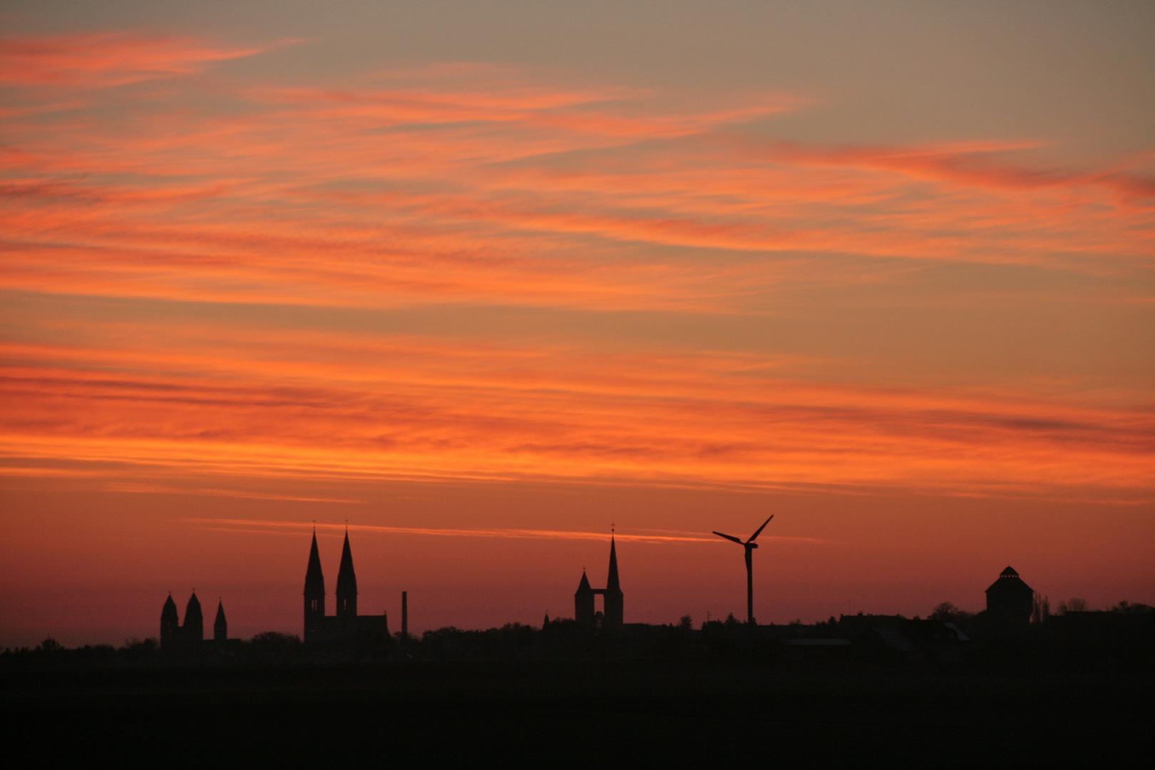 Sonnenaufgang über Halberstadt am Earth Day
