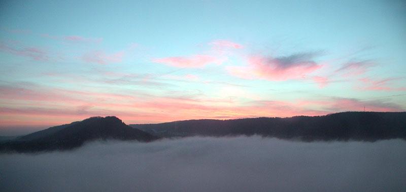 Sonnenaufgang über Jena 2