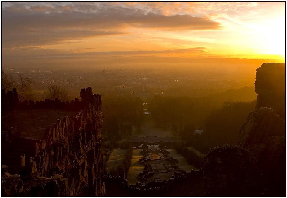 Sonnenaufgang über Kassel