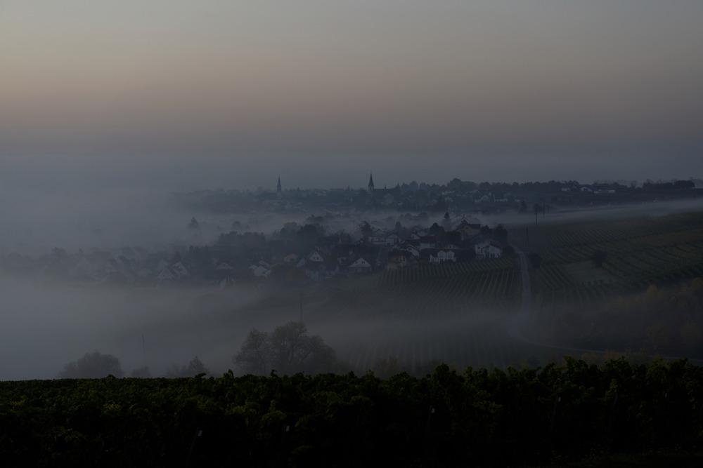 Sonnenaufgang über Langenlonsheim