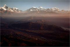 Sonnenaufgang über Nepal