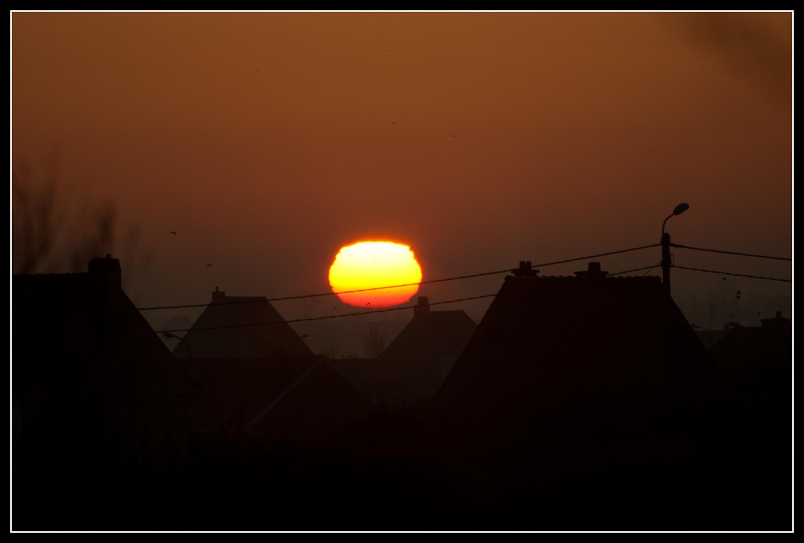Sonnenaufgang über Westflandern