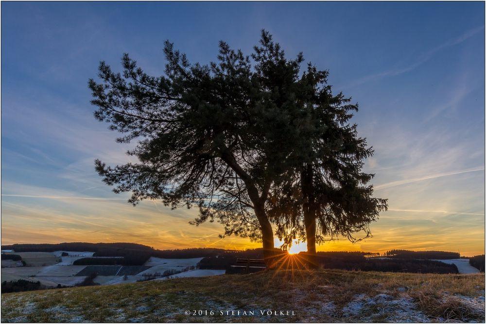 Sonnenaufgang über Wunderthausen