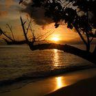 Sonnenaufgang um 5Uhr 30 auf den Seychellen