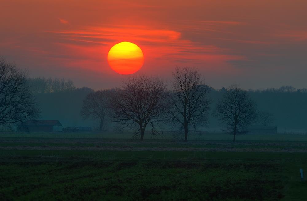 Sonnenaufgang vom 7. April
