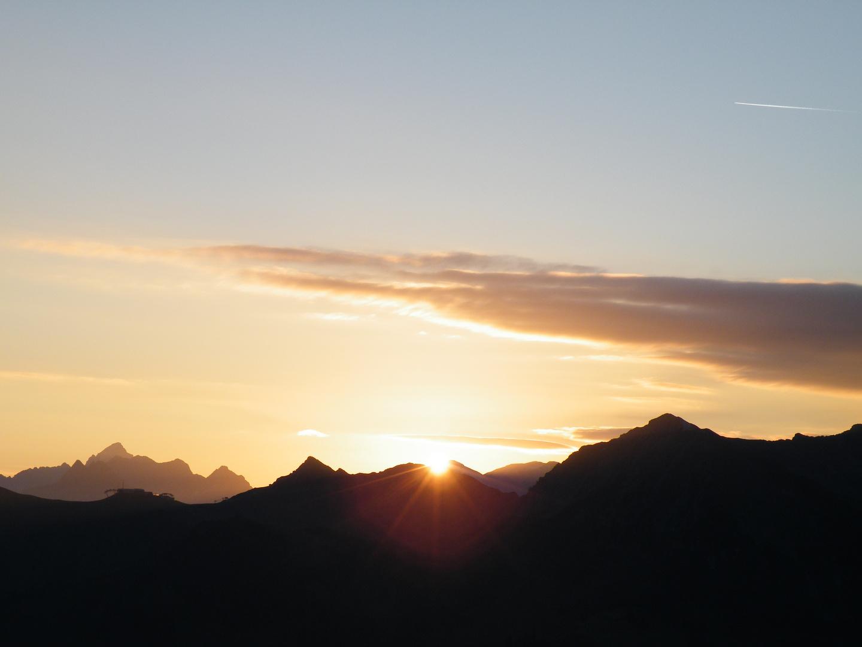 Sonnenaufgang vom Walmendinger Horn aus