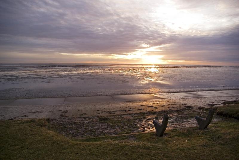 Sonnenaufgang vor Horumersiel # 1