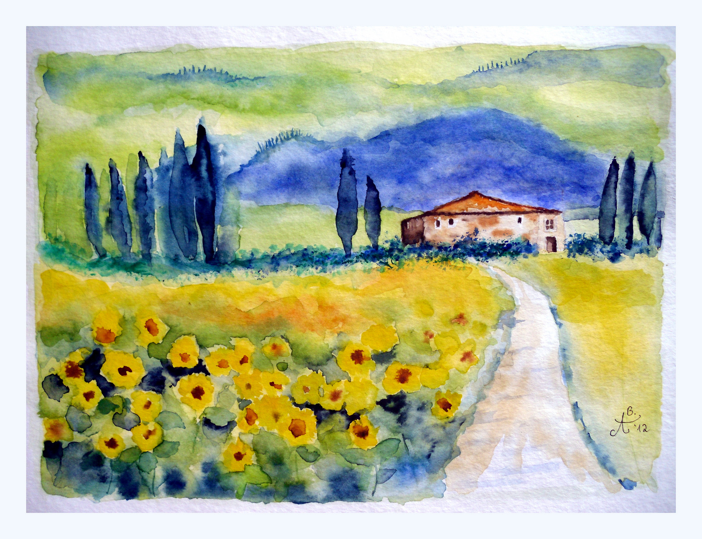Sonnenblumen in der Toscana