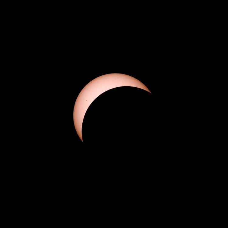 Sonnenfinsternis 2006 - 15 min vor Totalität