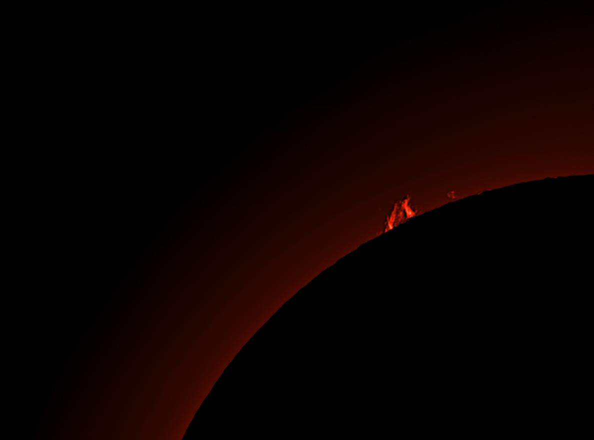 Sonnenrand im H-Alpha Licht am 30.8.19