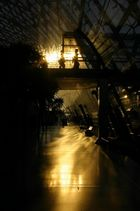 Sonnenreflektion im Glasdach