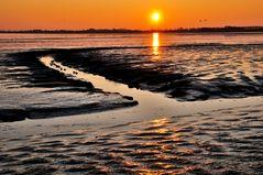 Sonnentergang im Watt