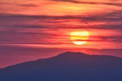 Sonnenüntergang über den Grand Ballon