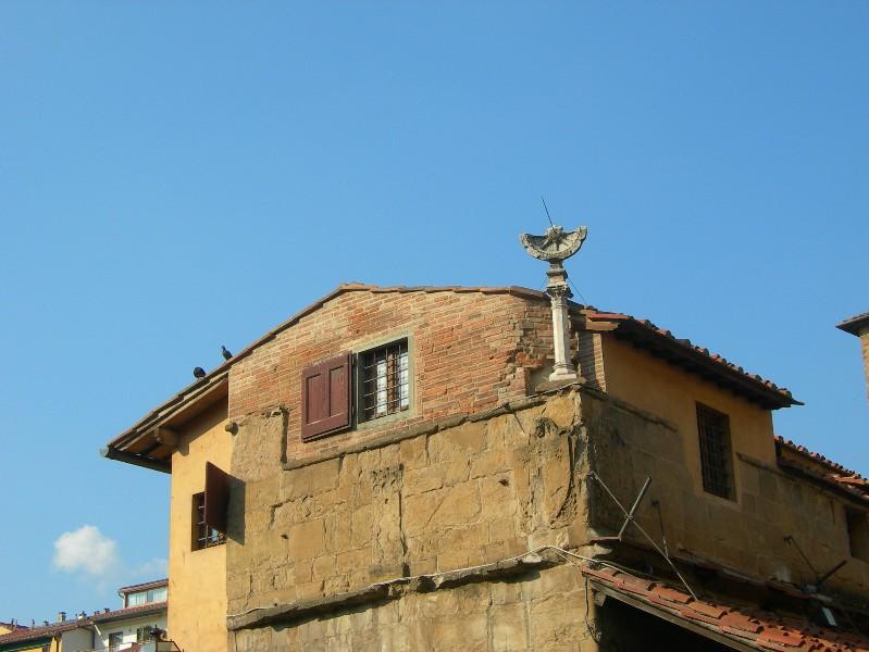 Sonnenuhr auf dem Dach
