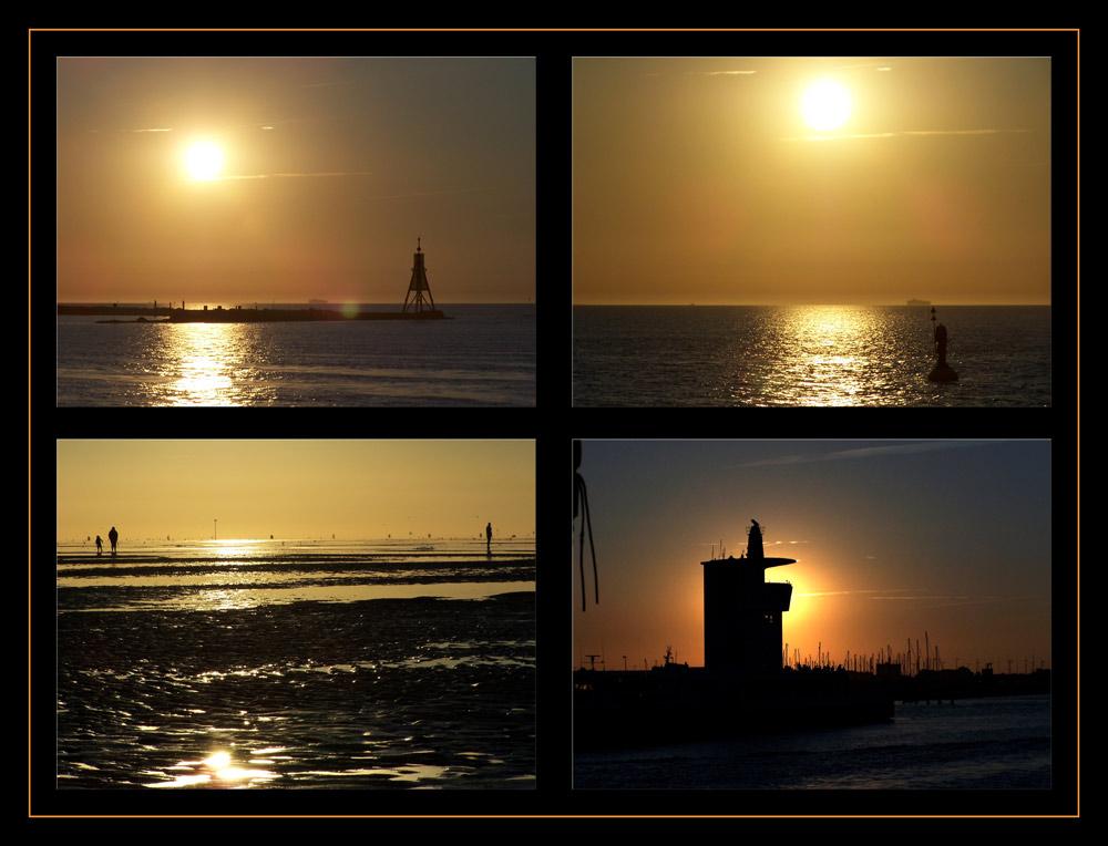 * * * Sonnenuntergänge an der Nordsee * * *