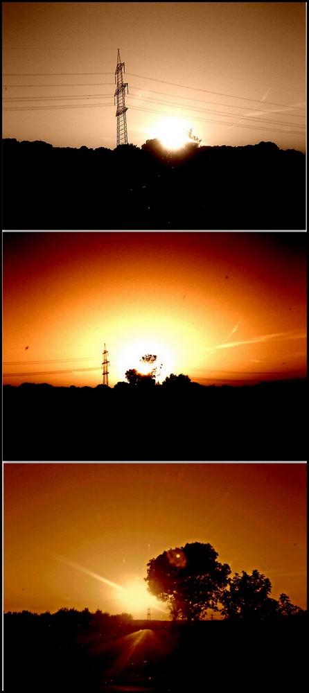 Sonnenuntergänge auf dem Feld *______*