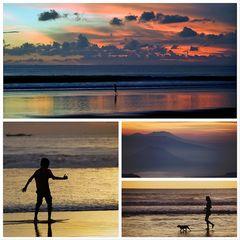 Sonnenuntergänge in Indonesien