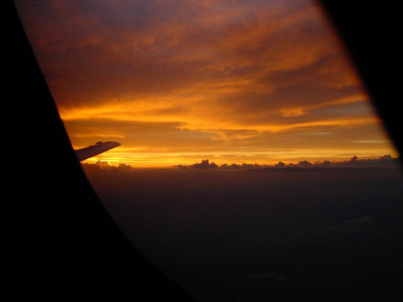 Sonnenuntergan im Sinkflug2