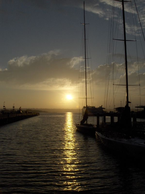 Sonnenuntergan überm Pazifischen Ozean