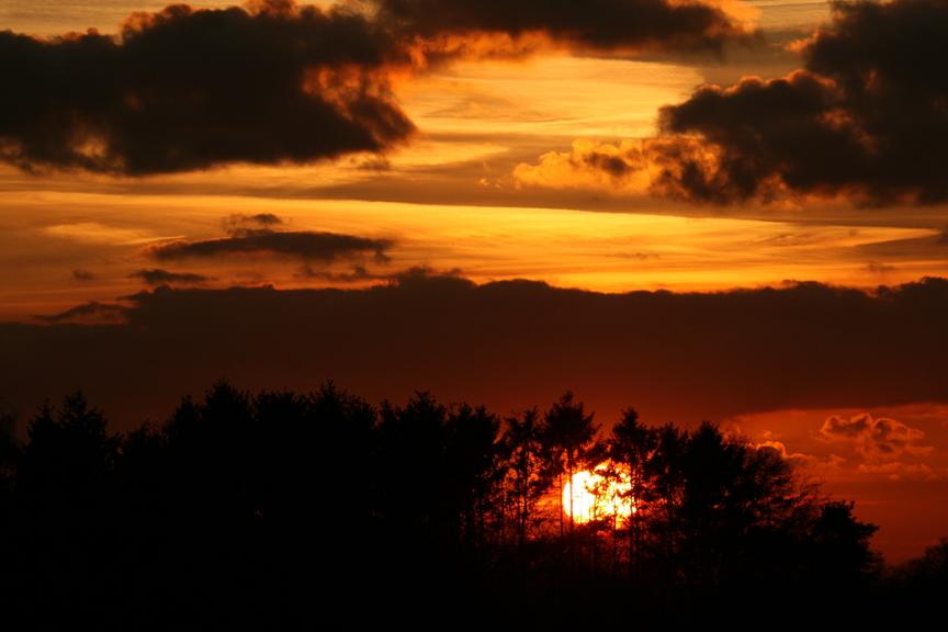 Sonnenuntergang 18.35 Niederrhein