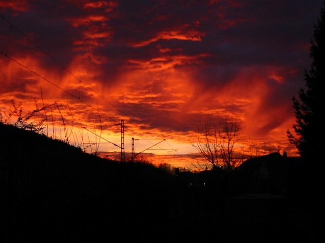 Sonnenuntergang 4.2.2004