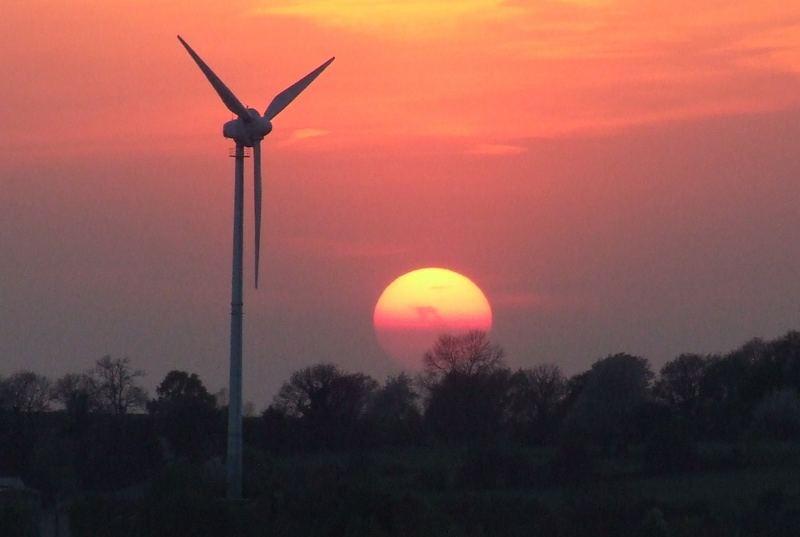 Sonnenuntergang, Aachen, 16.04.07 20:21