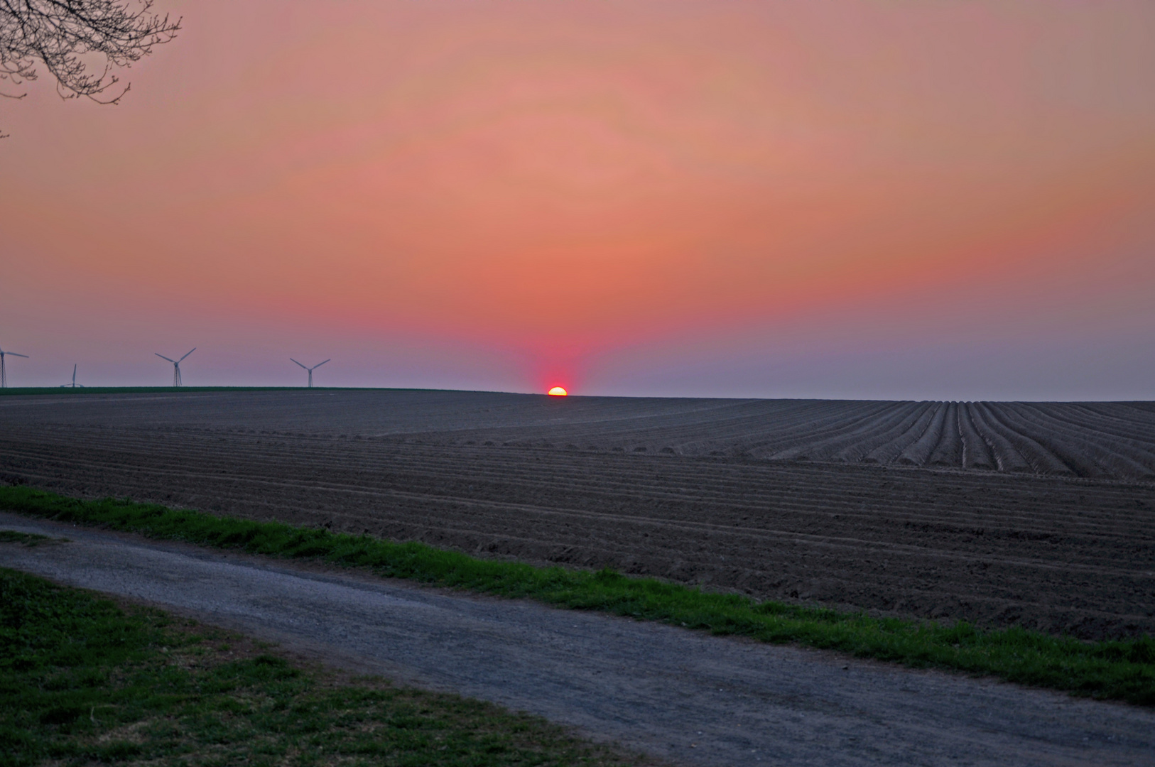 Sonnenuntergang Acker