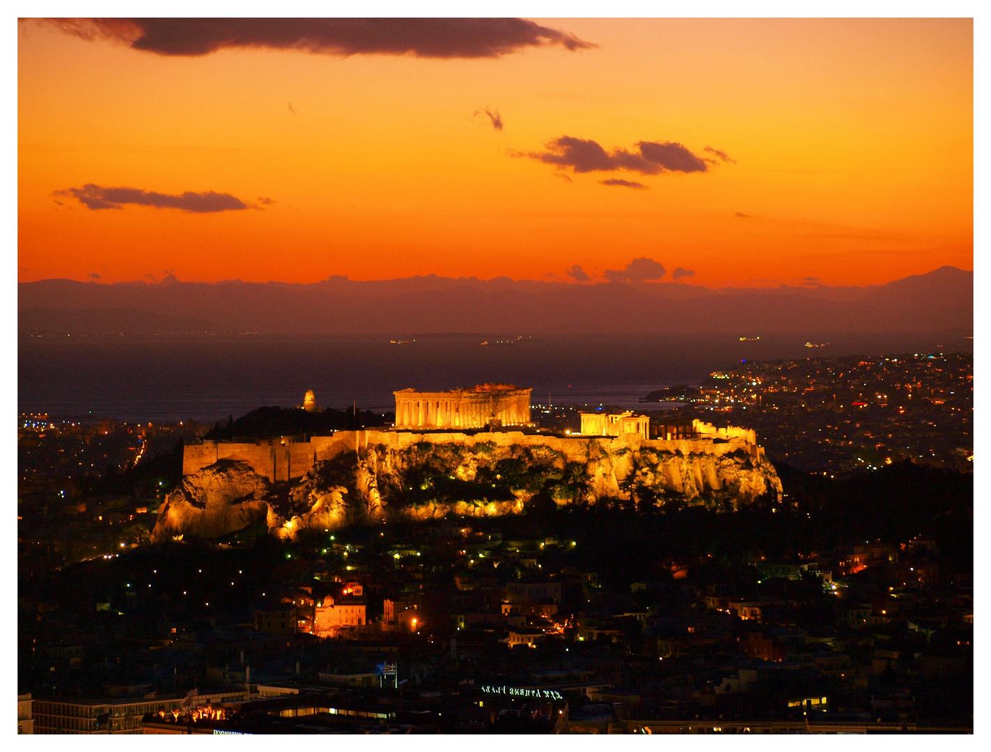 Sonnenuntergang Acropolis