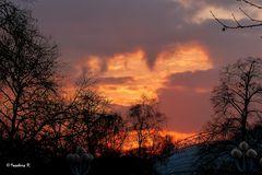 Sonnenuntergang am 17.Februar 2013 -