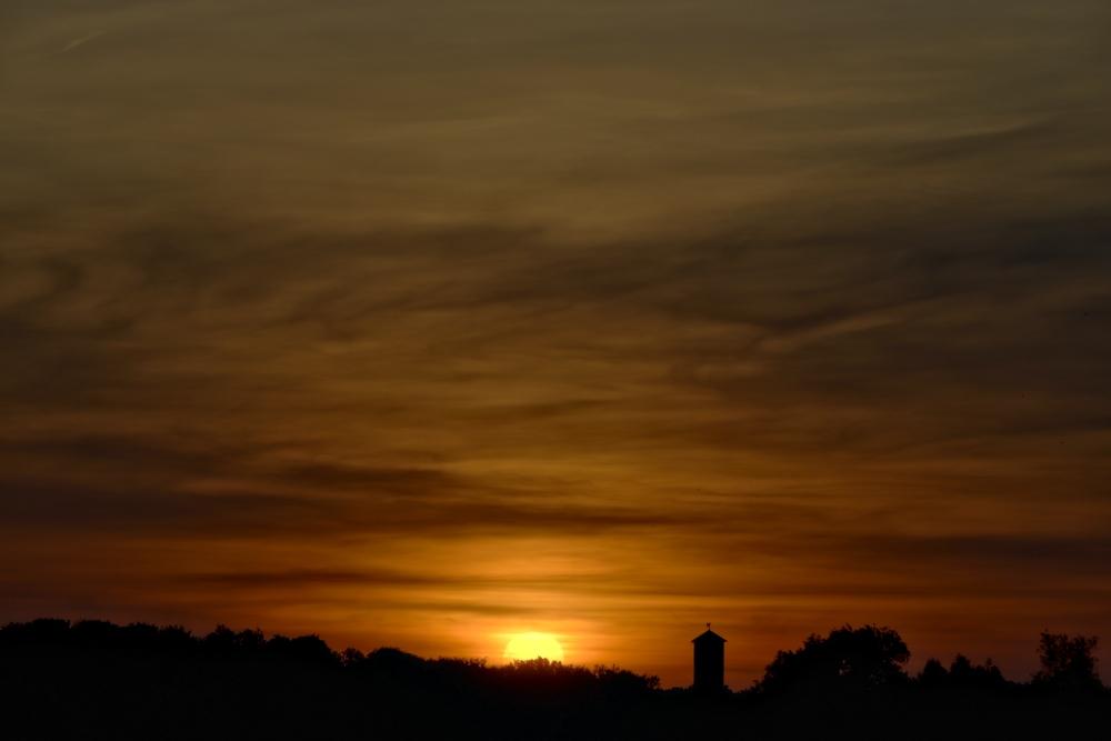 Sonnenuntergang am 31. Mai - Aufnahme 1