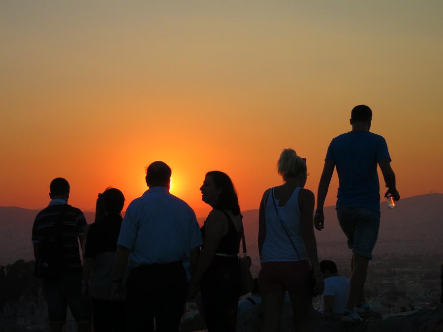 Sonnenuntergang am ACROPOLIS