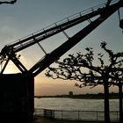 Sonnenuntergang am alten Hafen