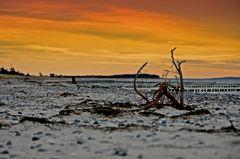 Sonnenuntergang am am Strand
