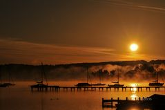 Sonnenuntergang am Amersee 2011.