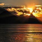 Sonnenuntergang am Atitlán-See