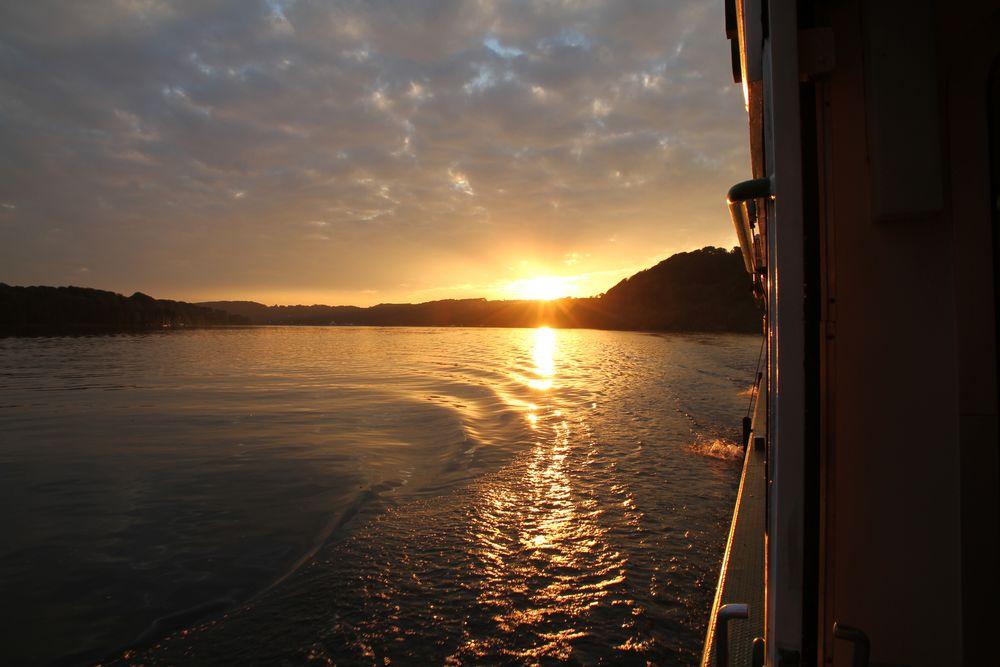 Sonnenuntergang am Baldeneysee (2)
