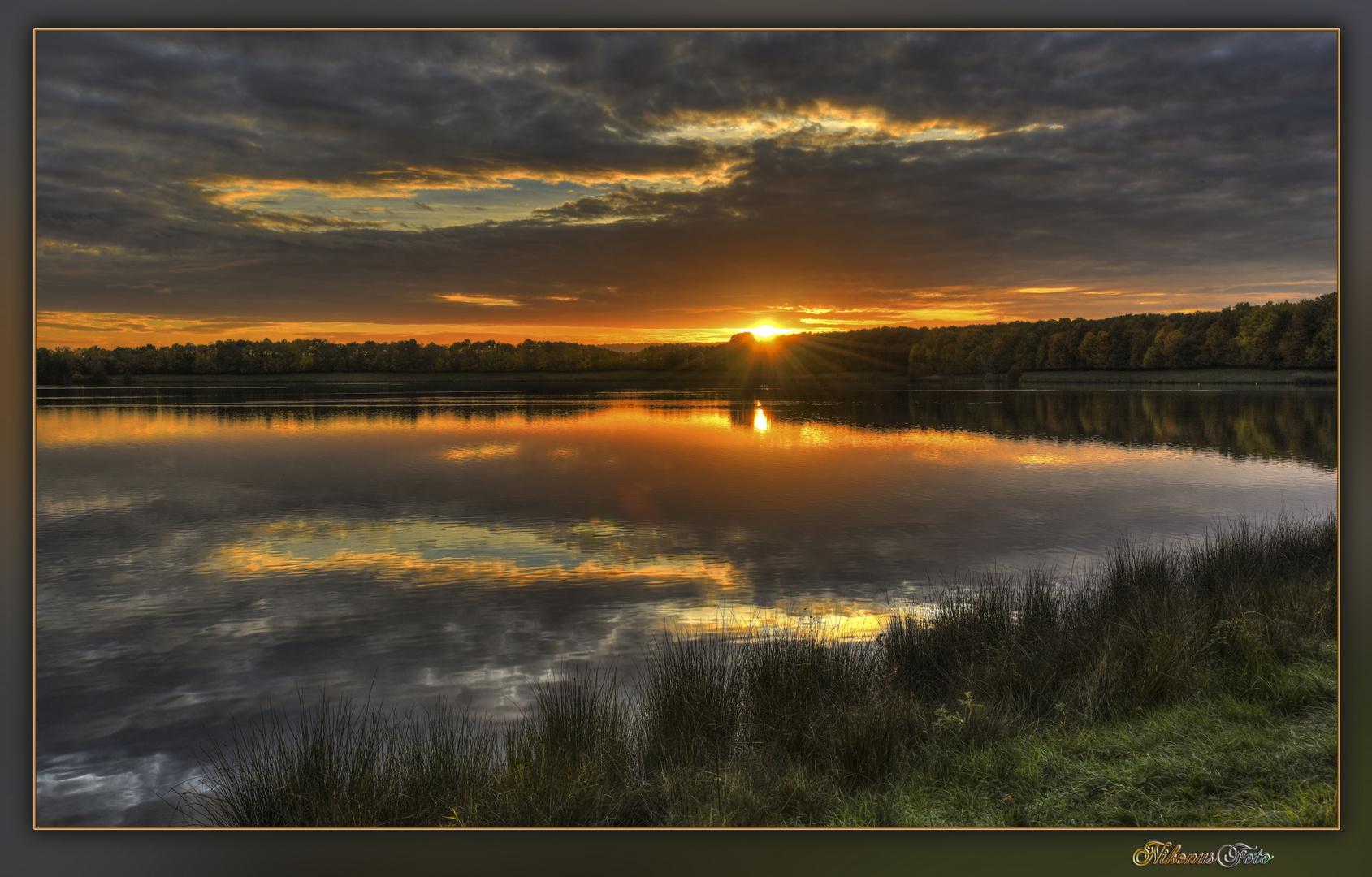 Sonnenuntergang am Barbarasee