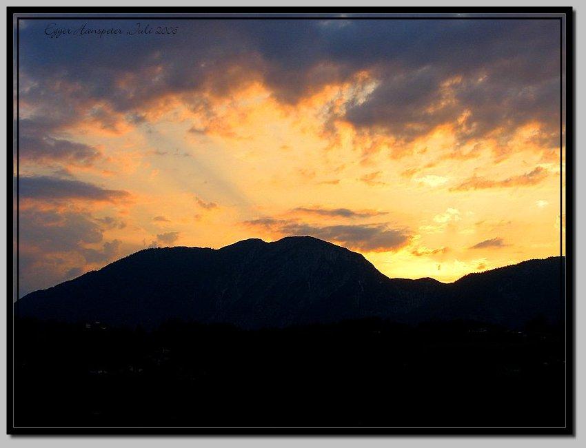 Sonnenuntergang am Blessinger in Tirol