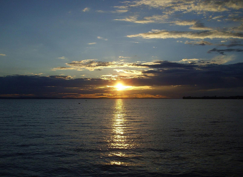 *Sonnenuntergang am Bodensee*